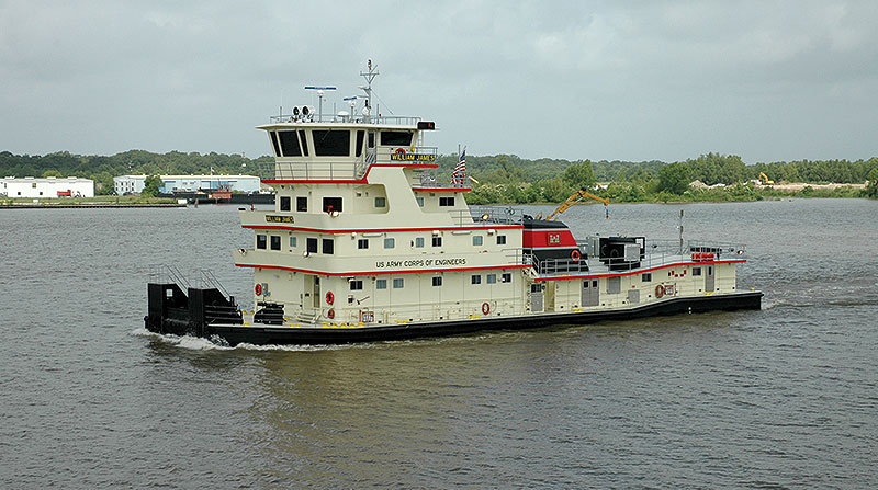 U.S. Army Corps of Engineers Inland River Push Boat
