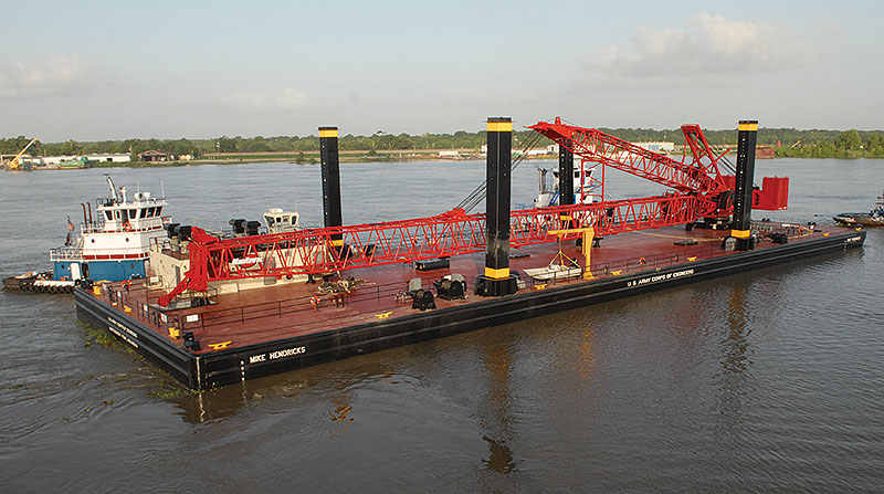 260' x 84' x 12' U.S. Army Corps of Engineers Crane Barge