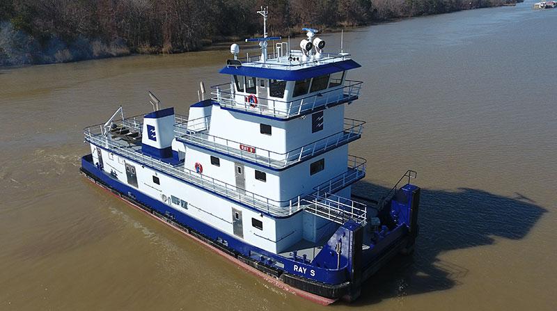 100' x 34' x 11' Inland River Push Boat