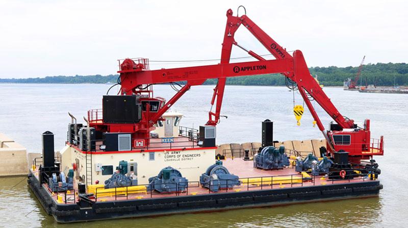 U.S. Army Corps of Engineers Crane Barge