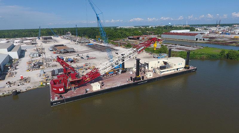 300' x 68' x 12' U.S. Army Corps of Engineers Crane Barge