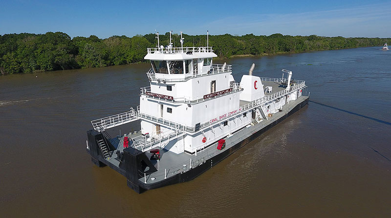 "166' x 48' x 12"" Inland River Push Boat"