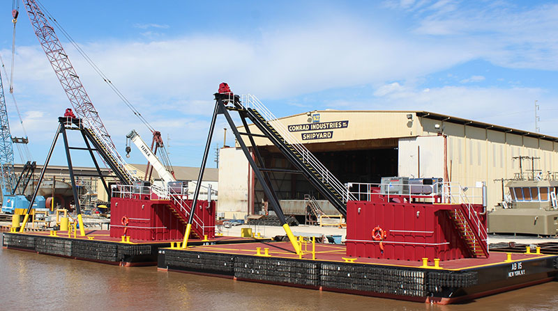 Great Lakes Dredge & Dock Anchor Barges