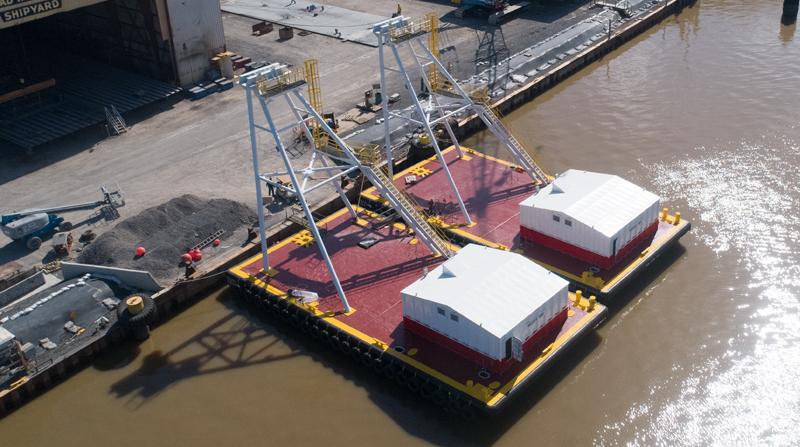 Weeks Marine Anchor Barges